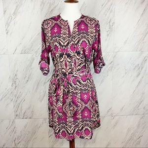 Anthropologie | Maeve Ikat Frequencies Shirt Dress